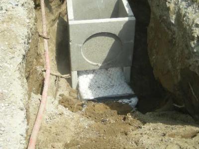 Applicazione sotto strada per lo smaltimento di acque reflue